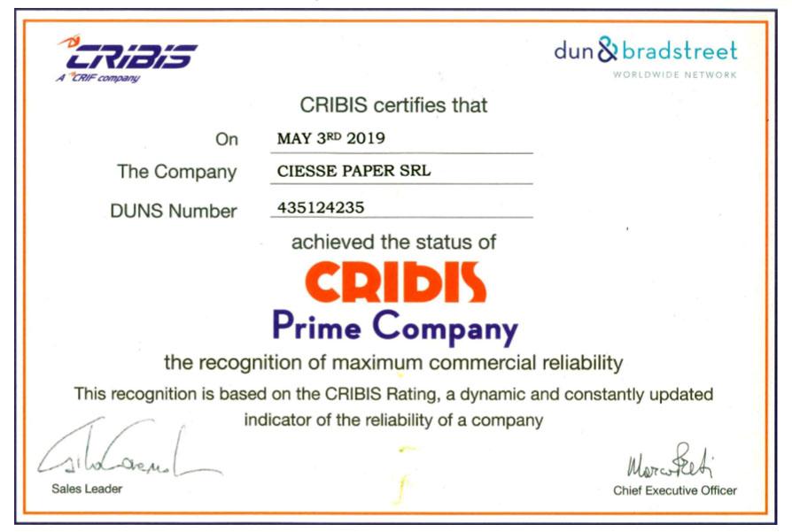 Cribis Certification